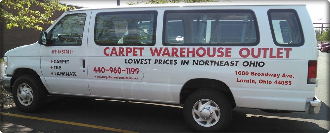 Carpet warehouse vans