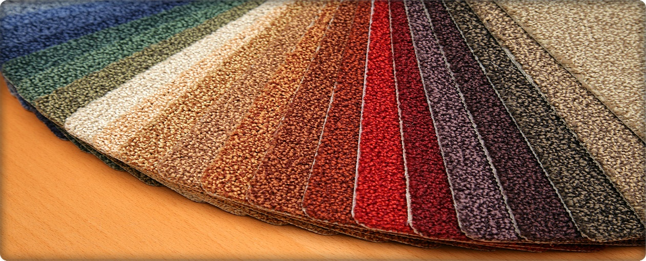 Carpet warehouse color samples