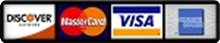 we take Visa, Discover, Mastercard and American Express