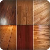 some samples of hardwood flooring
