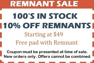 coupon for free pad with purchase of remnant with coupon only