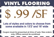 vinyl flooring sale $.99 per square foot